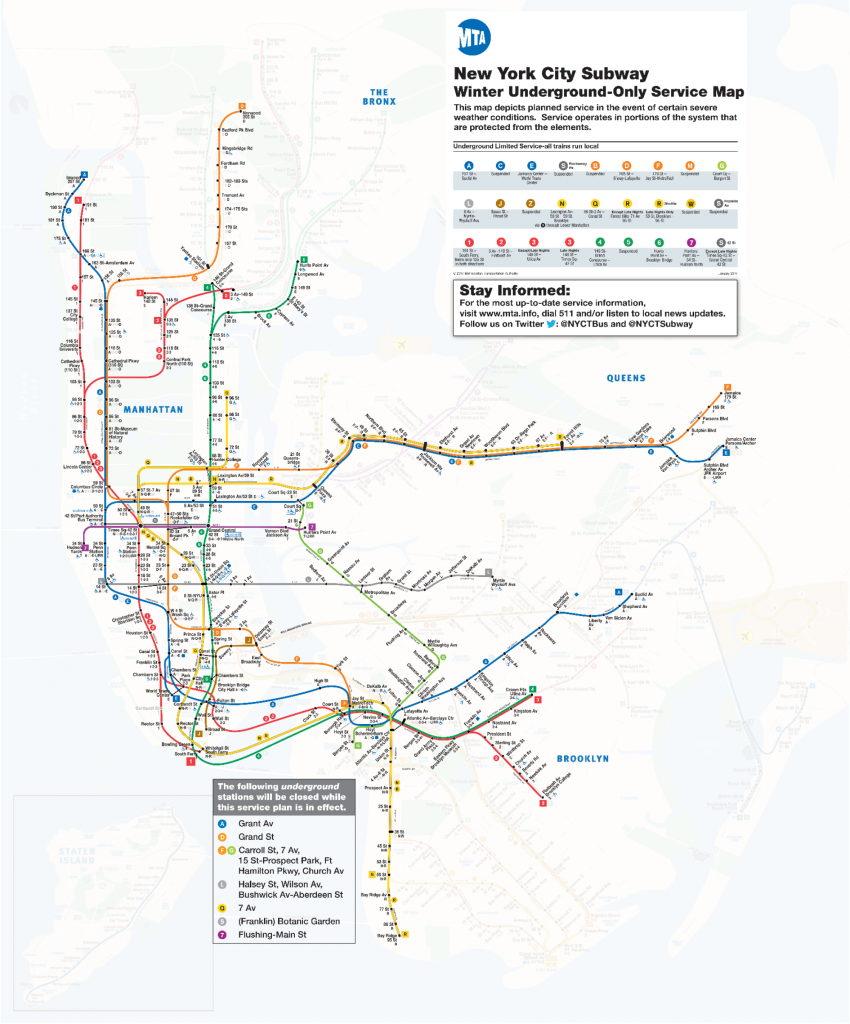 Prospect Park Subway Map.This Is Your Nyc Subway Map For The Blizzard All Above Ground